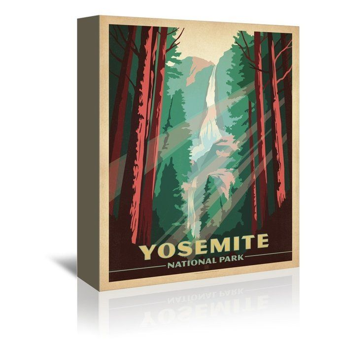 Yosemite National Park Vintage Advertisement On Gallery Wrapped Canvas By Anderson Design Group Vintage Posters National Park Posters American Travel Posters