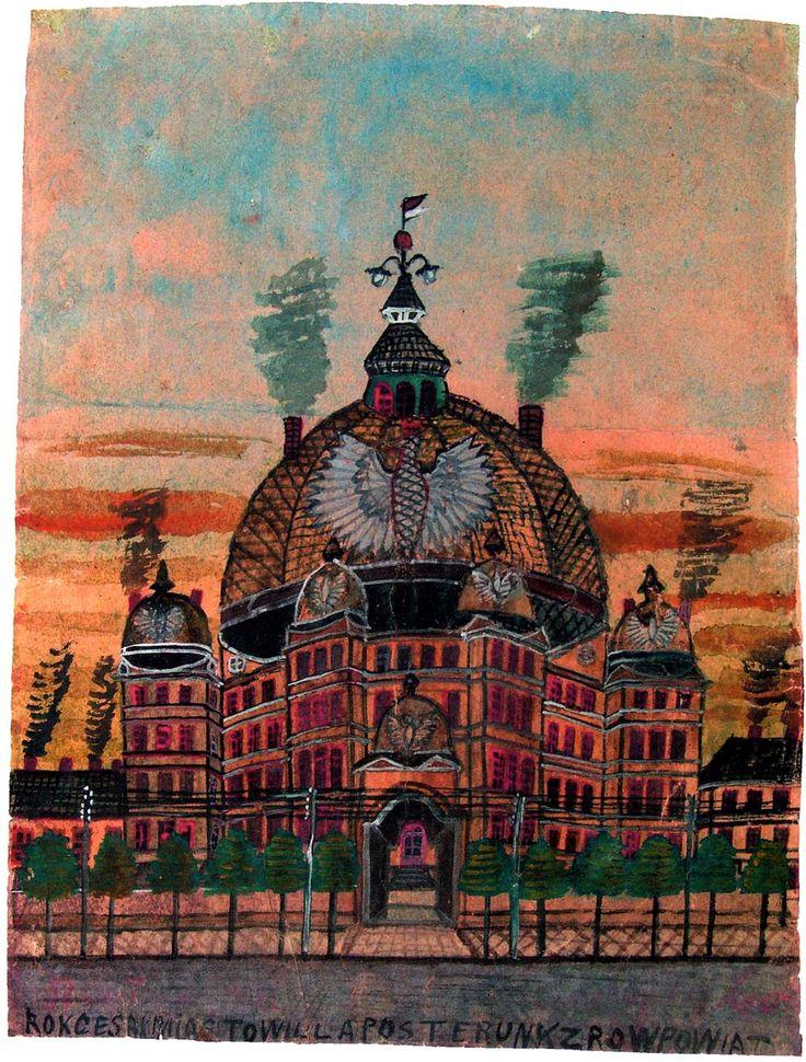 """""""Architektura fantastyczna. Posterunek"""", lata 20., Muzeum Okręgowe, Nowy Sącz"""