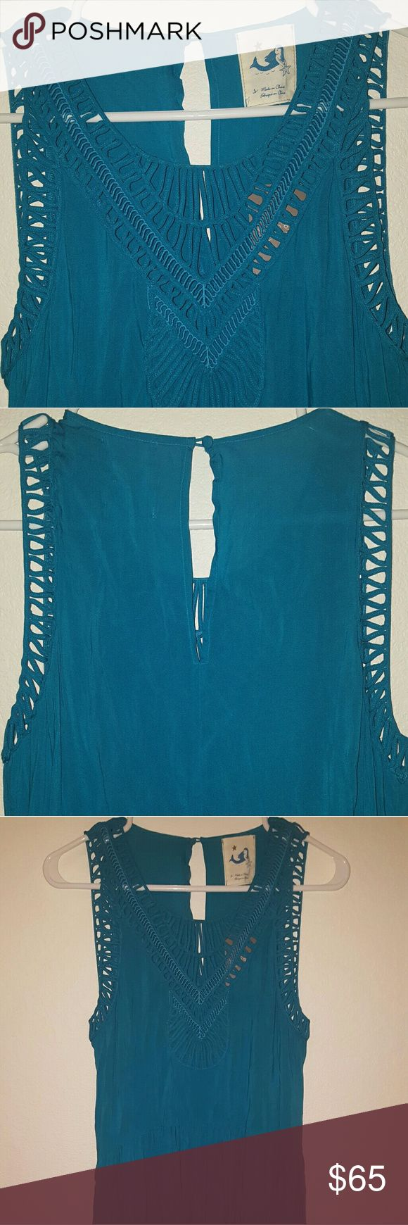 Anthropologie teal maxi dress New with tags, maxi dress Anthropologie Dresses Maxi
