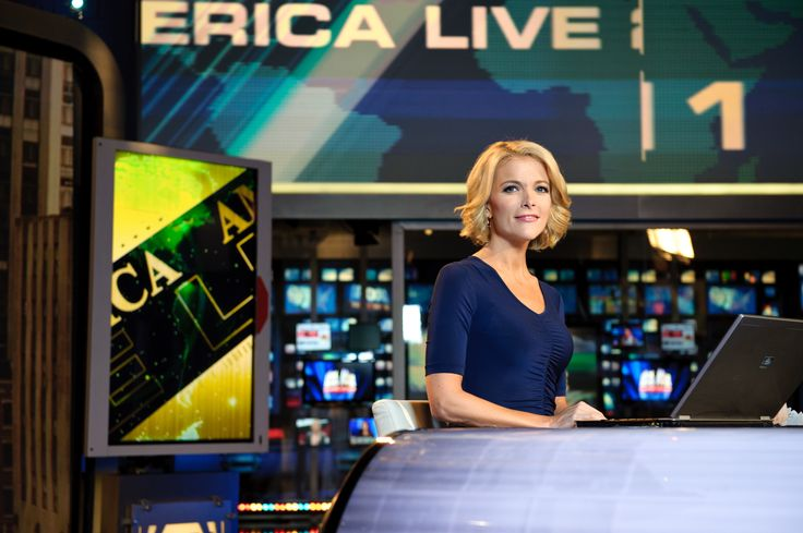 NEW YORK, NY - OCTOBER 10:  Megyn Kelly, host of America Live on set at Fox News studios in New York.  Fox News Channel celebrated its 15th anniversary on the air on October 7th. via @AOL_Lifestyle Read more: https://www.aol.com/article/entertainment/2017/04/12/megyn-kellys-first-nbc-interview-with-vladimir-putin/22037056/?a_dgi=aolshare_pinterest#fullscreen