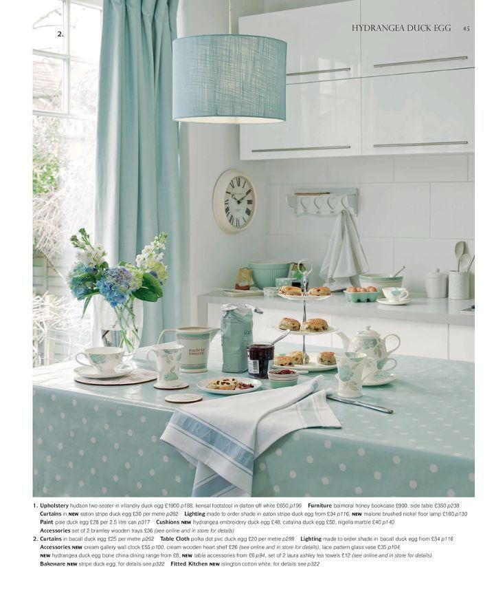 Laura Ashley blue & white kitchen