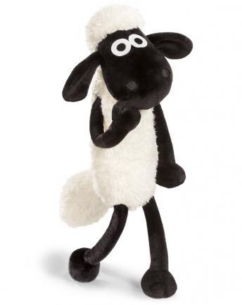 Kuscheltier SHAUN das Schaf Schlenker schwarz-weiß