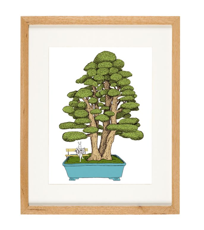 'Bonsai' - limited Edition of 50 - A4 giclee print (unframed) - anniedavidson.bigcartel.com