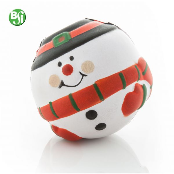 Palla antistress a forma di pupazzo di neve.  #antistress #natale #gift #bsigadget #christmas #gadget #gadgetpersonalizzati #pallinaantistress