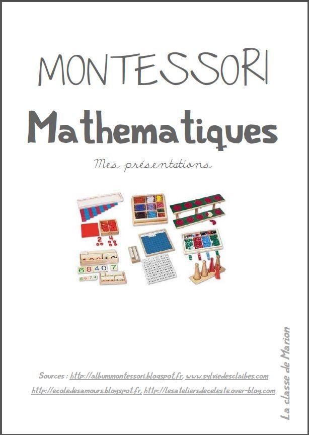 Cahier de présentation des ateliers mathématiques Montessori