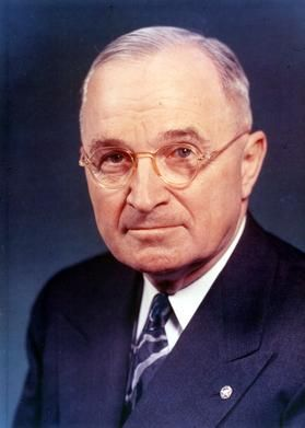 #33 Harry S Truman (1945-1953) After urgent plea to Japan to to surrender was rejected, ordered atomic bomb of cities devoted to war work. Two were Hiroshima & Nagasaki, Japan quickly surrendered. Witnessed signing of United Nations. Died Dec. 26, 1972 at age 88