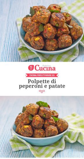 #Polpette di #peperoni e #patate