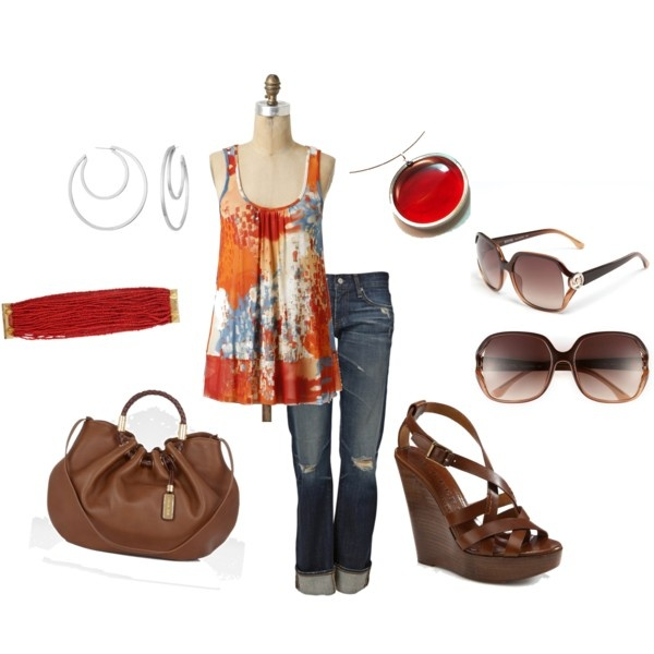 Cute: Summer Styles, Orange, Fashion, Red, Averbeek, Summer Outfits, Outfits Style, Brown, Top