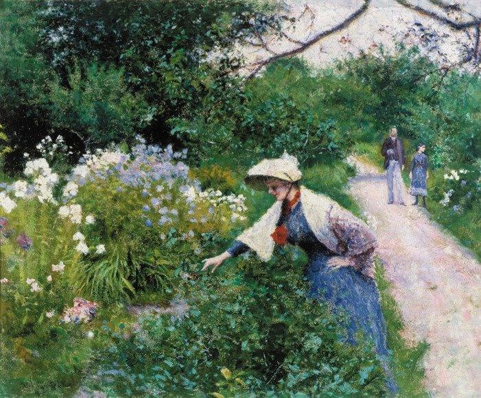 Wladyslaw Podkowinski - In the garden  (W Ogrodzie) 1892