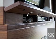hide tv wires and components  | Thanks to TDR Woodcraft for always understanding the visions and for ...
