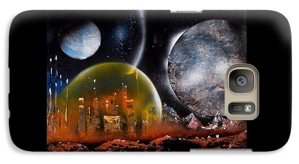 Protection Galaxy S7 Case Printed with Fine Art spray painting image Protection by Nandor Molnar (When you visit the Shop, change the orientation, background color and image size as you wish)