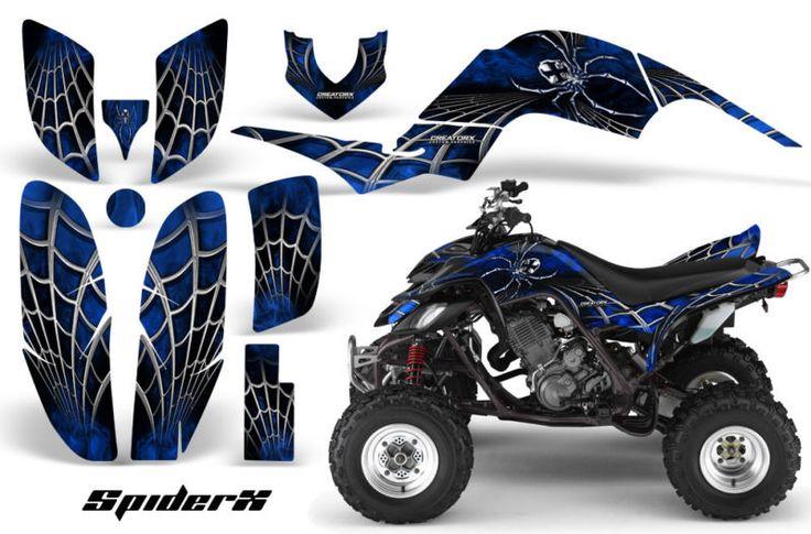 Yamaha raptor 660 graphics kit creatorx decals stickers sxblb