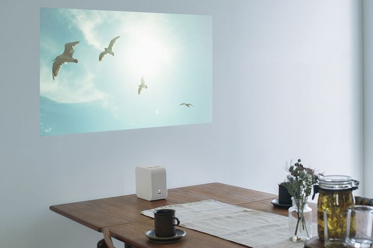 The Sony Portable Ultra Short Throw Projector (LSPX-P1) is compact and can beam on to any wall or surface.