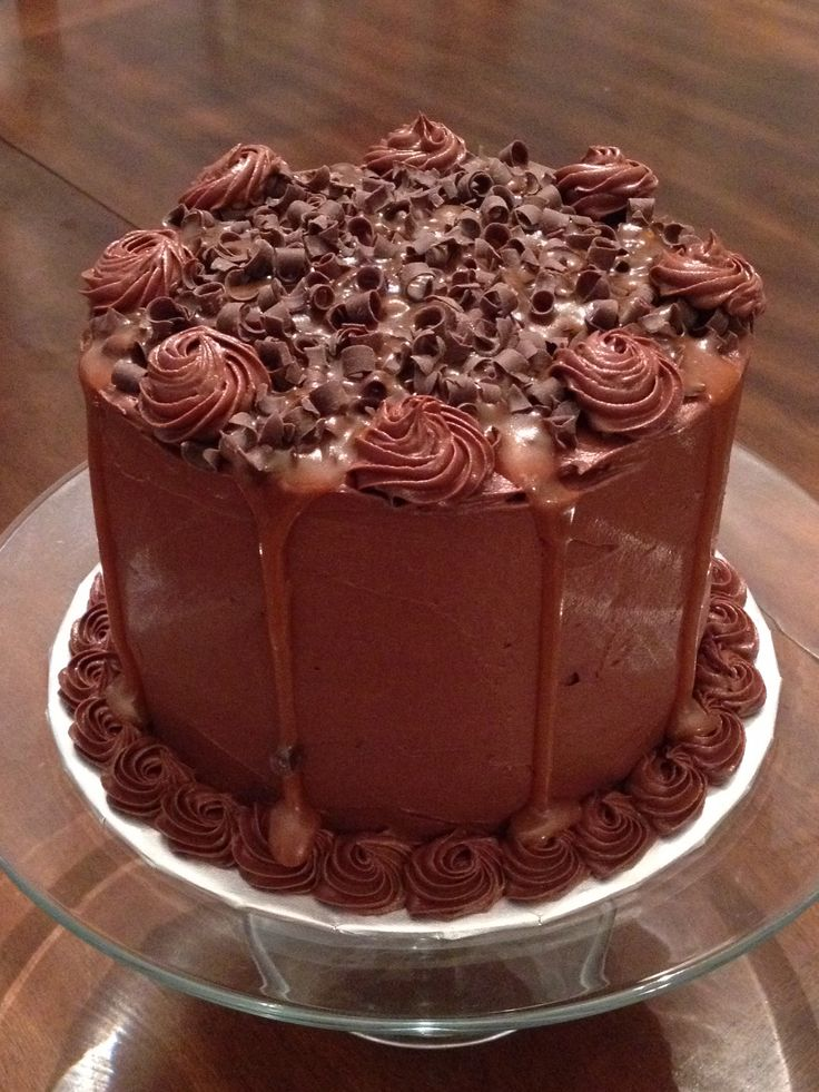 layer salted caramel chocolate cake | LPC Cakes and Cookies | Pinte ...