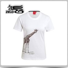 Custom Fashionable Women's Animal Logo Slim Cotton T-Shirt     Best buy follow this link http://shopingayo.space
