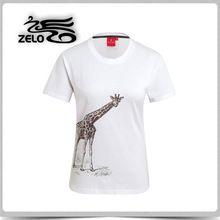 Custom Fashionable Women's Animal Logo Slim Cotton T-Shirt     Best buy follow this link http://shopingayo.space