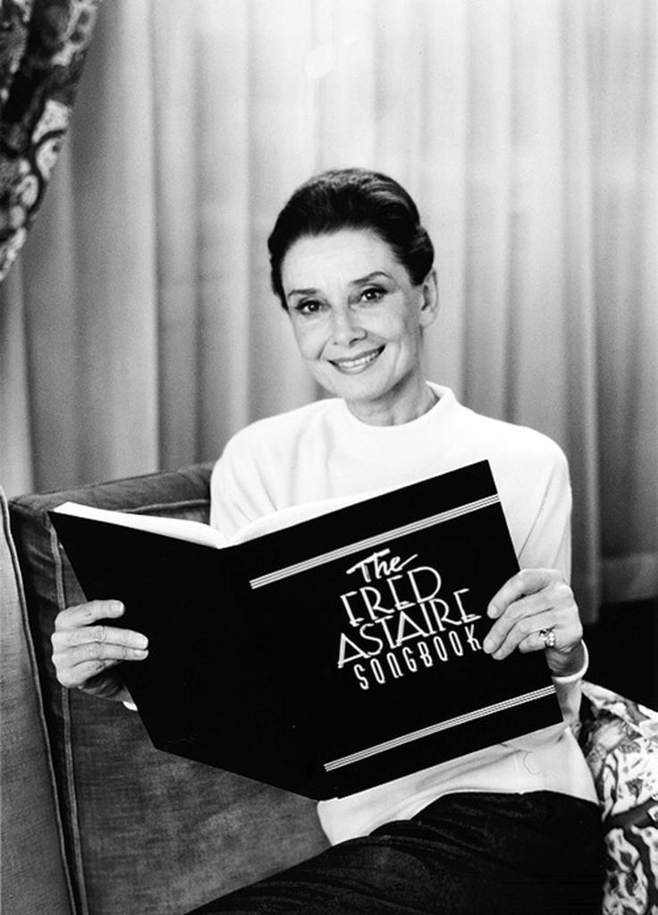 """Audrey Hepburn reads as host on The Fred Astaire Songbook (1991). Hosted by Hepburn who starred opposite Astaire in Funny Face (1957). She calls the experience the """"fulfillment of a dream"""" - like every woman, Hepburn wanted to dance with Astaire. And so too, apparently, every songwriter wanted to write for him. According to the program, Astaire had more songs written expressly for him than any other singer. Astaire worked with everyone from Irving Berlin and Cole Porter to the Gershw"""