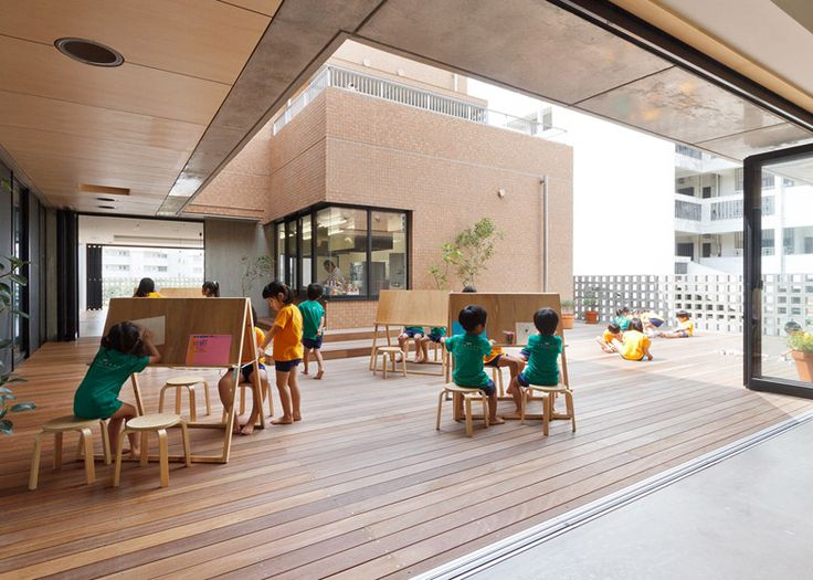 Hanazono Kindergarten designed to endure typhoons