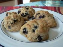 Healthy Blueberry Scones... I need an alternative for the highly sweet scones at 55th while i'm off sweets for lent!