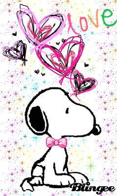 MOVING HEATS & SNOOPY  PHOTO - Snoopy  (CLICK on GIF)  ❤️