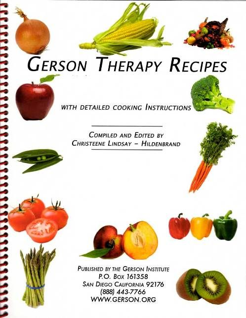 Gerson Therapy Recipe book   Nutrition   Pinterest ...