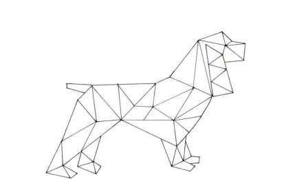 Disegni geometrici per bambini da colorare - Disegno di un cane