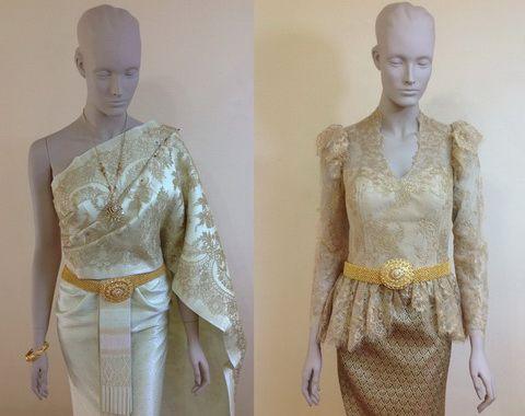 ชุดแต่งงาน แบบใหม่ ชุดไทย 2014 ร้าน Leela Rose In Bkk Traditional And Modern Long Sleeve Thai
