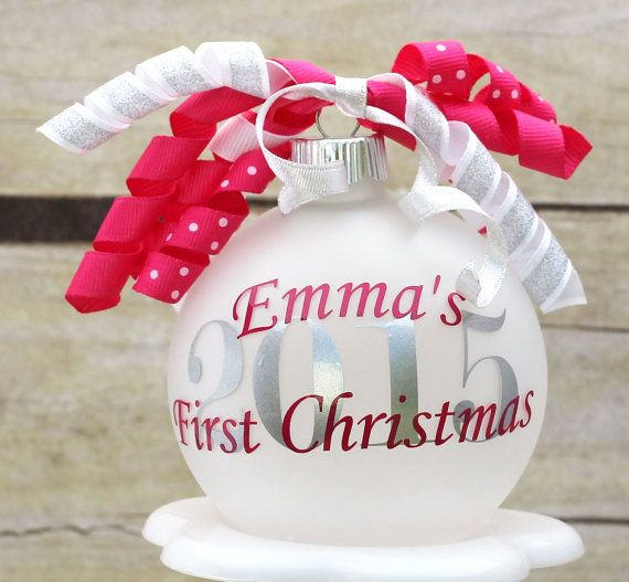 The 25 best first christmas ornament ideas on pinterest baby babys first christmas ornament monogram ornament by tgncreations solutioingenieria Choice Image