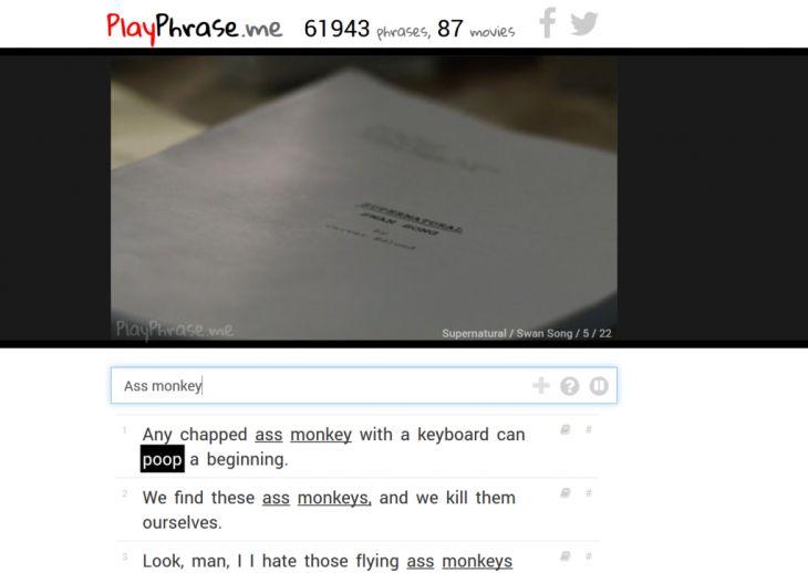PlayPhrase. Améliorer sa prononciation en anglais avec des séries TV. #tice