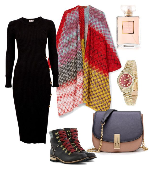 """""""cozy outfit"""" by rebeccaodil on Polyvore featuring Missoni, WithChic, Rolex and Chanel"""