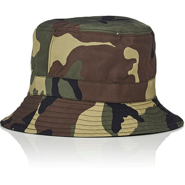 Givenchy Men's Reverisble Bucket Hat ($360) ❤ liked on Polyvore featuring men's fashion, men's accessories, men's hats, mens fishing hats, men's brimmed hats, mens hats and mens camo hats