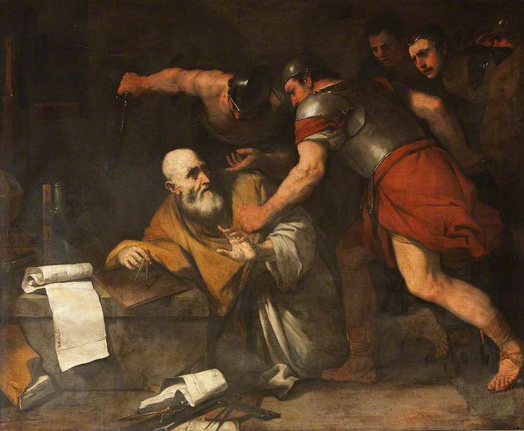 The death of Archimedes, Luca Giordano