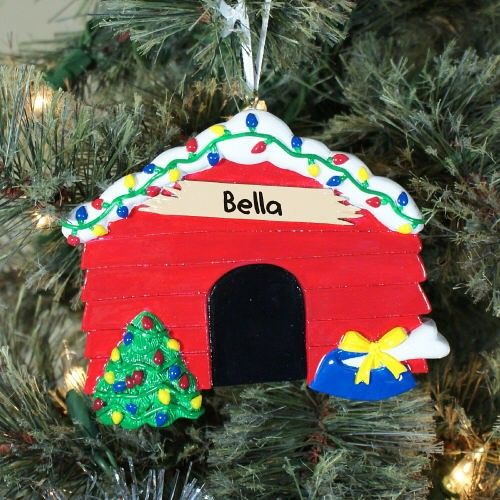 Dog House Personalized Pet #Christmas Tree Ornaments ...