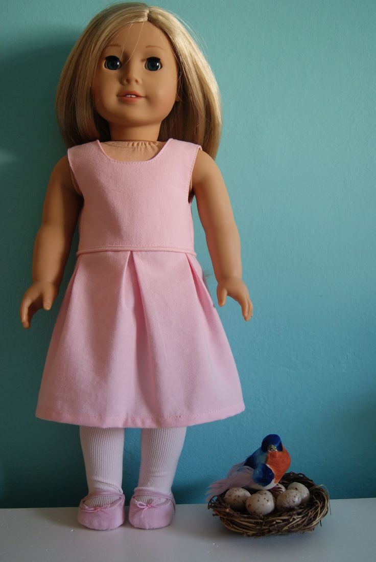 Katie 18-inch doll dress  ~   free pattern