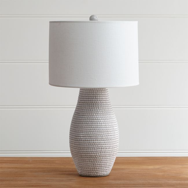 Cane White Table Lamp Reviews Crate And Barrel In 2021 White Table Lamp Grey Table Lamps Table Lamp