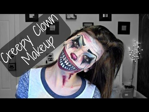 Creepy Halloween Clown Makeup | Stylistikay - YouTube