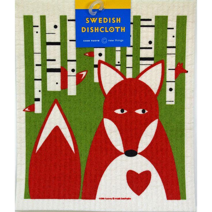 Swedish Dishcloth - Fox in Birches  https://www.scandinavianshoppe.com/store/p/1774-Swedish-Dishcloth-Fox-in-Birches.html