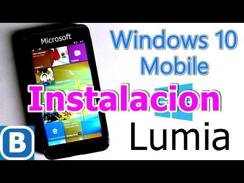 Como Instalar Windows 10 mobile (todos los modelos) Lumia - YouTube
