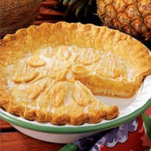 Glazed Pineapple Pie... OMG!! My granny used to make me a pineapple pie every year for my birthday! Who knew my bday was on National pie day!?! I didn't until just a little while ago! HA!