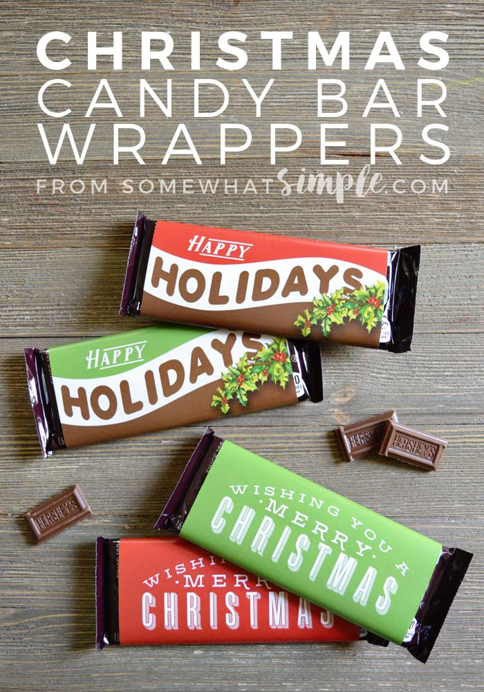 These Christmas Candy Bar Wrappers make a simple gift you can make in just minutes!