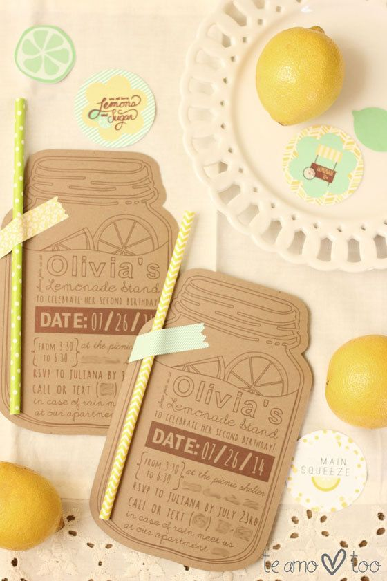 Custom Lemonade Stand Birthday Party Invitation