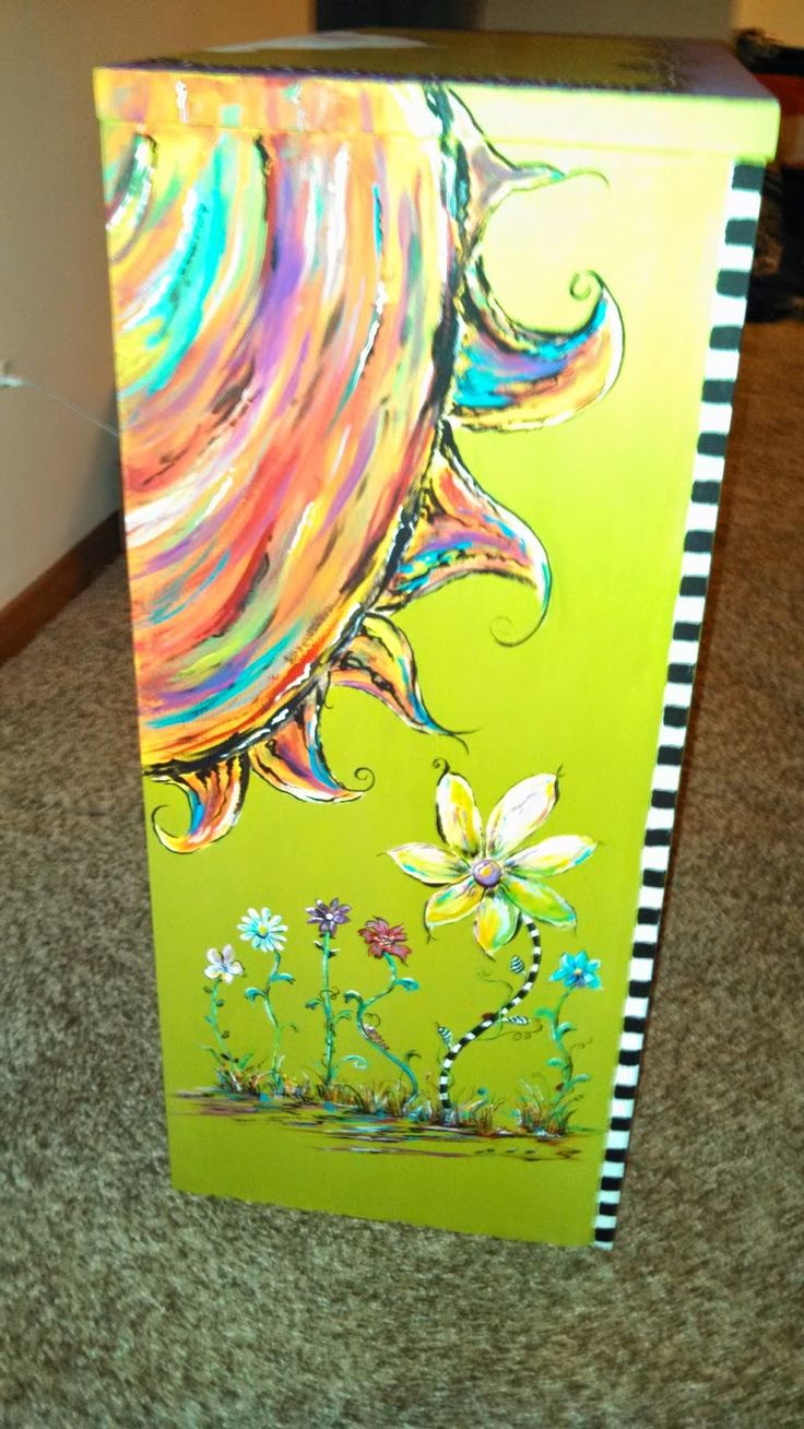 Funky painted furniture ideas - Carolyn S Funky Furniture Fun Bookcase