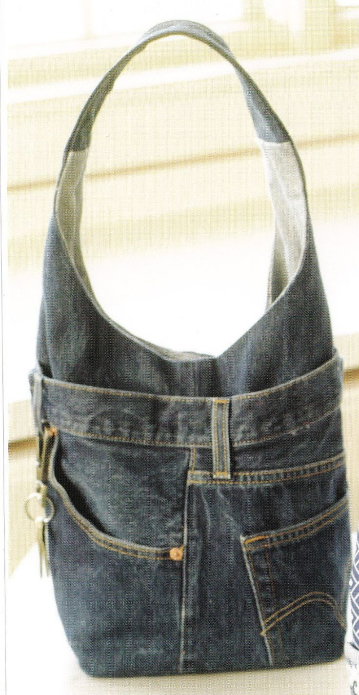 PATTERN- Recycled Denim Jeans Bag by Indygo Junction. $12.00, via Etsy.