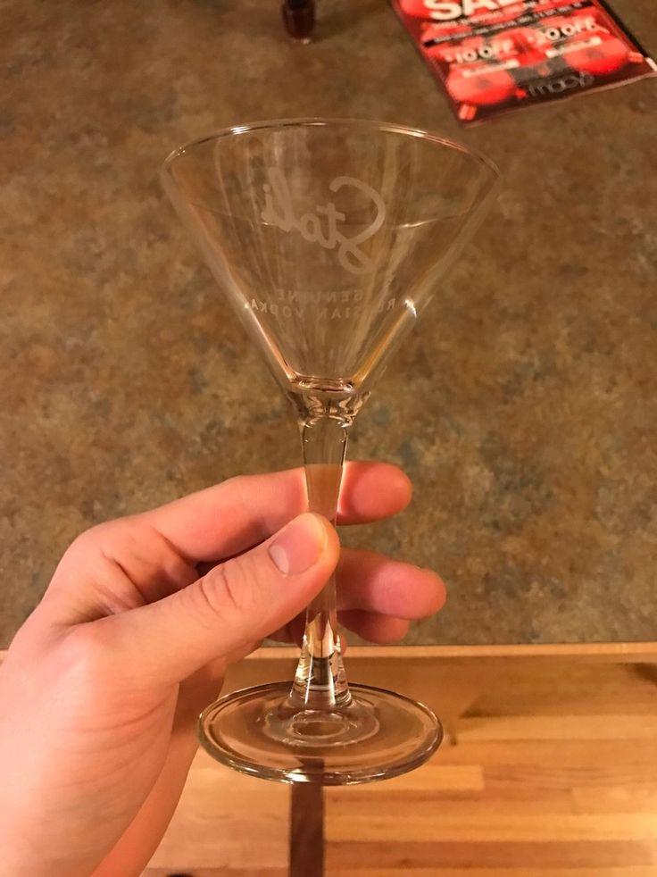 Stoli Vodka Logo Martini Glass