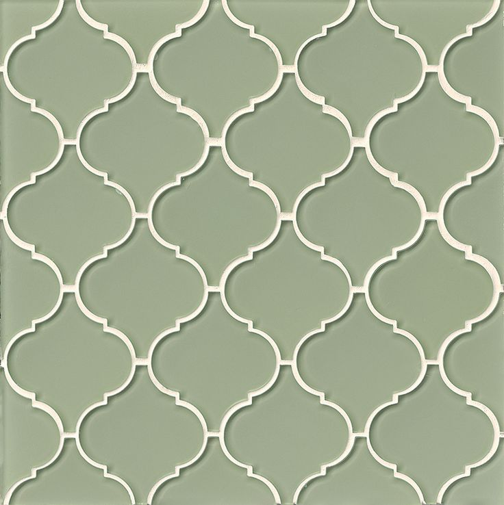 Bedrosians Mallorca Collection Gl Arabesque Mosaic Cliff Tile Box Of 11 Sheets Fern Green