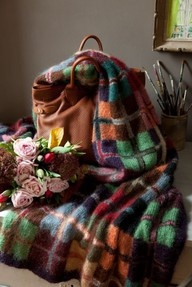 Warm tartan throw  for snuggling beautiful colours. #autumncovered