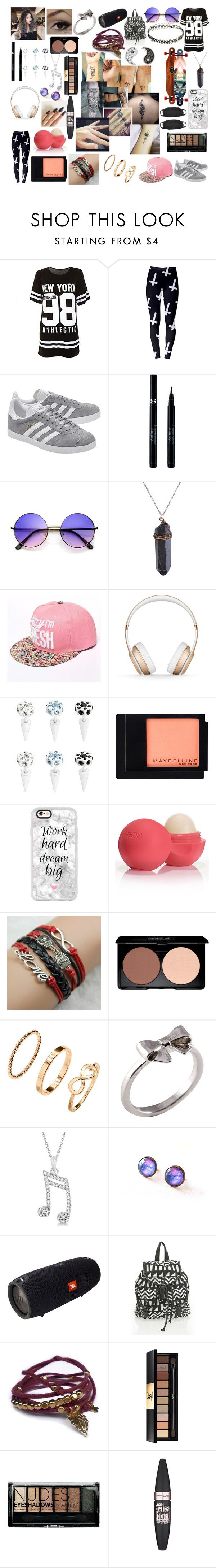 """""""#84"""" by spider-1505 on Polyvore featuring Mode, adidas Originals, Sisley, Beats by Dr. Dre, Maybelline, Casetify, Eos, CO, H&M und Joy Everley"""