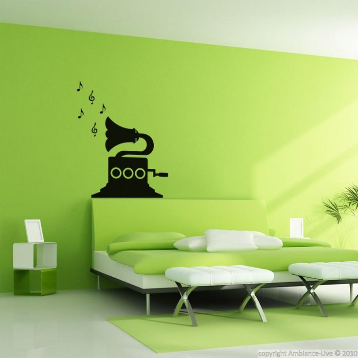 Ambiance Wall Stickers #5: Sticker Design Gramophone - Stickers Musique U0026 Cinema - Ambiance-sticker