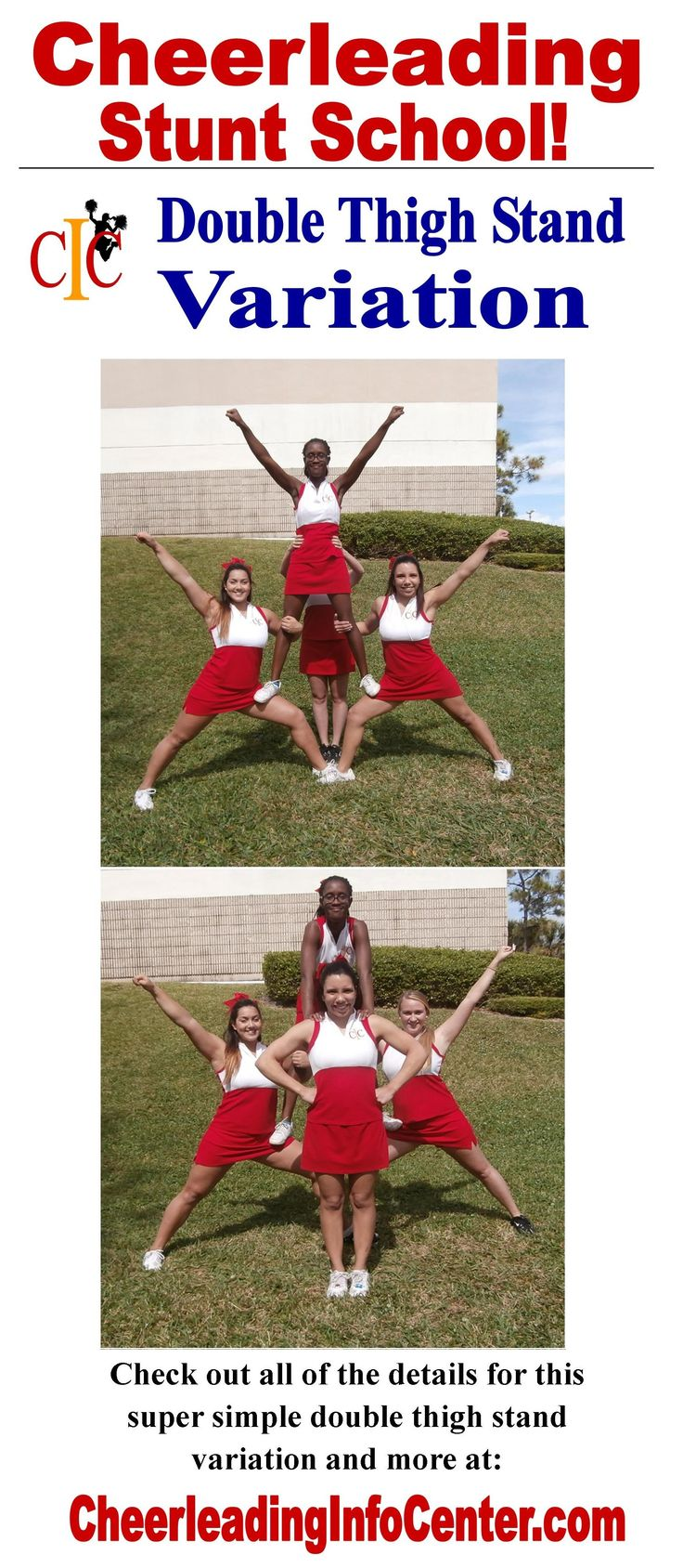 Are you looking for some super simple cheerleading stunts that look great?  Check out the Stunting Section on CheerleadingInfoCenter.com