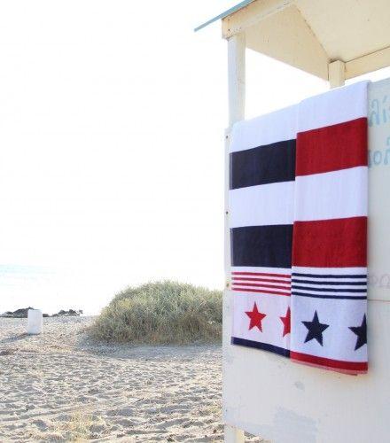 Πετσέτα Θαλάσσης Mykonos 100x160cm Stars - Πετσέτες Μπάνιου | Pennie® - pennie.gr
